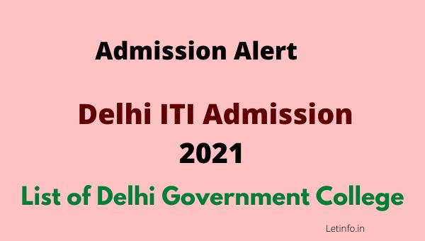 delhi iti admission