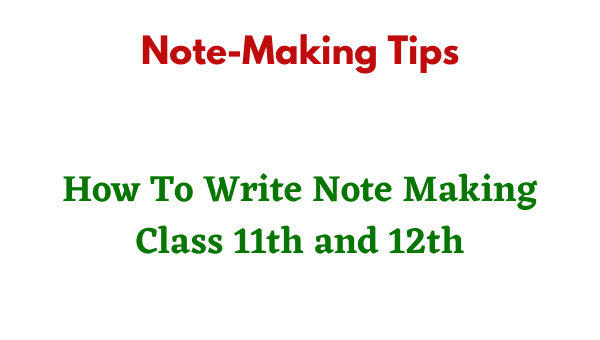 note making tips