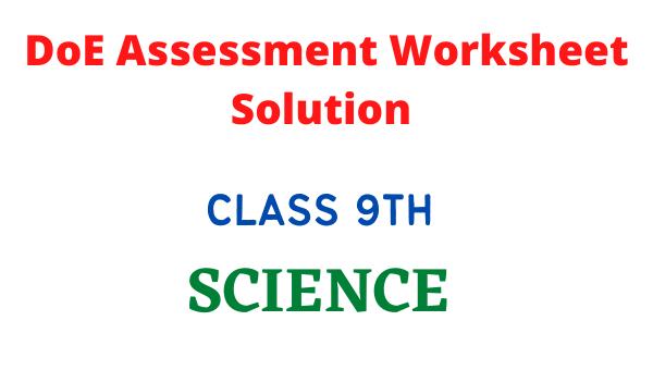 DoE Assessment worksheet