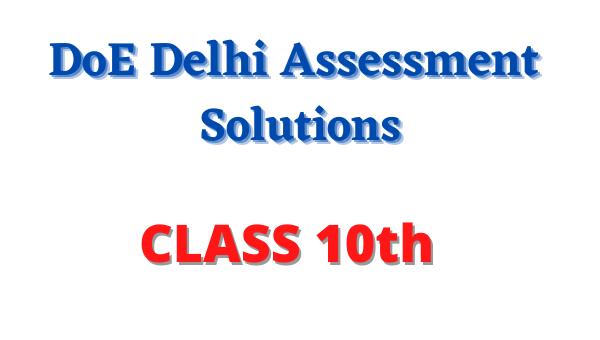 doe delhi assessment solution